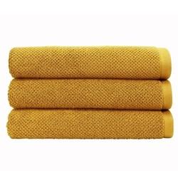 Brixton Pair of bath sheets, 90 x 150cm, saffron