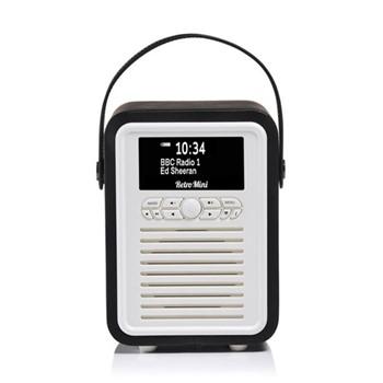 Retro Mini DAB radio, H22.4 x W14.7 x D10.5cm, black