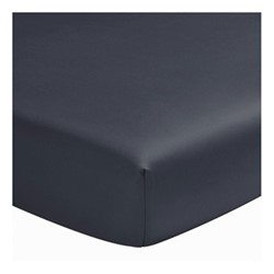 Teo Super king size fitted sheet, W180 x L200cm, slate blue