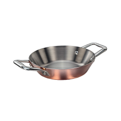 Maitre D' Mini paella pan, D16cm, Copper And Stainless Steel