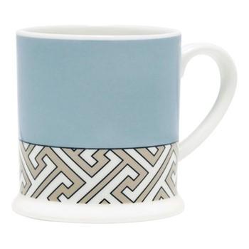 Maze Espresso cup, 6.6 x 6.1cm, duck egg/truffle