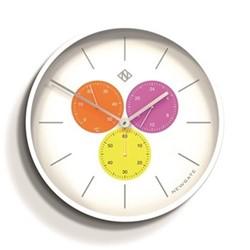 Triptick Large clock, 53 x 53 x 7.5cm, white