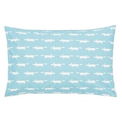 Mr Fox Standard pillowcase, L48 x W74cm, teal