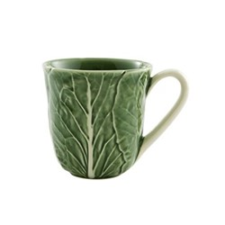 Cabbage Set of 4 mugs, 10.5 x 11cm, green