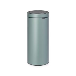 newIcon Touch bin, 30 litre, Metallic Mint