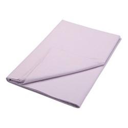 200TC Plain Dye Super king size flat sheet, L260 x W315cm, thistle
