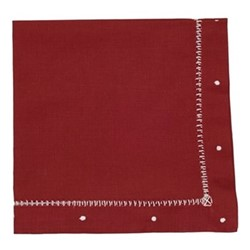 Dots Set of 4 napkins, 47 x 47cm, dark red linen