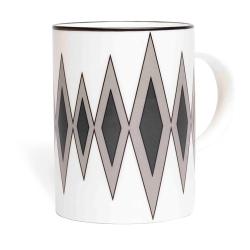 Diamond Mug, 10.2 x 7.6cm, Grey/Black