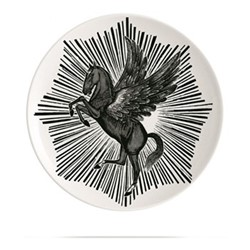 Pegasus Plate, Dia20cm, black/white