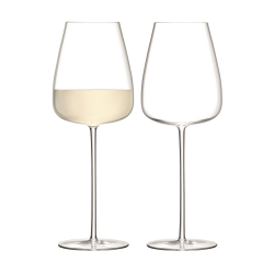 Wine Culture Pair of white wine goblets, 690ml, clear