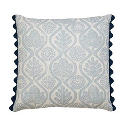 Oakleaves Cushion, 50 x 50cm, blue