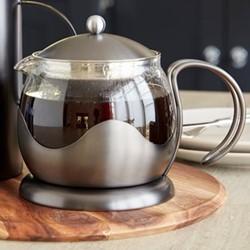 Edited 4 cup teapot, H17 x W18.5 x L16cm - 1.2 Litre, gun metal