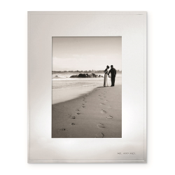 """Darling Point Photograph frame, 8 x 10"""", Silver Plated"""