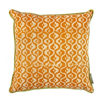 Small Medallion Cushion, 50 x 50cm, tangerine