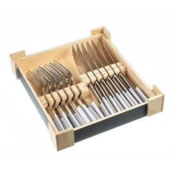 Mimosa 12 piece steak knife and fork set, mirror finish