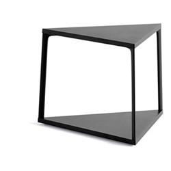 Eiffel Triangular side table, L52 x W52 x H38cm, ink black