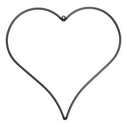 Farringdon Wirework heart, H46 x D0.8 x W47.5cm