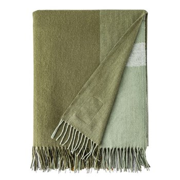 July Bug Cashmere blend throw, L183 x W142cm, green