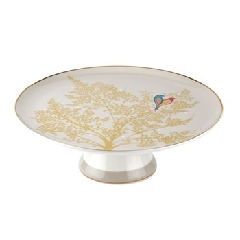 Chelsea Collection Footed cake plate, 27cm, light grey