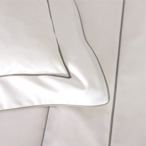 Flandre - 200 Thread Count Cotton Percale King/super king flat sheet, 270 x 295cm, Platine