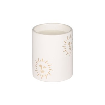 Sun Small candle, H10 x D10cm, white and gold