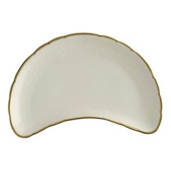 Darley Abbey Pure Gold Cresent salad plate, L22.5 x W13cm, white/gold