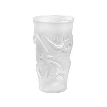 Hirondelles Vase, H15 x D8cm, clear/satin finish
