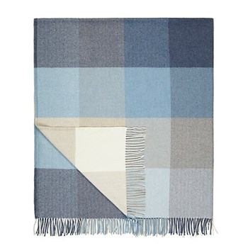 Capri Cashmere blend throw, L183 x W142cm, denim