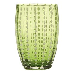 Perle Pair of tumblers, 32cl, apple green