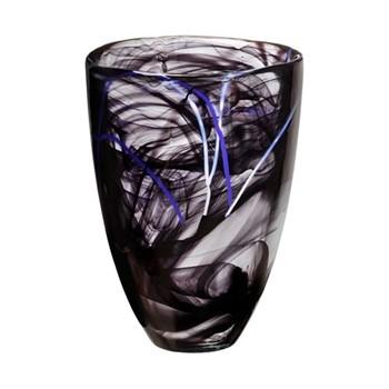 Contrast Vase, H20cm, black