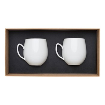 Salam Pair of mugs, H9.6cm - 36cl, white porcelain