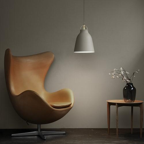 Caravaggio-P1 Pendant lamp, H20.5 x Dia16.5cm, Matt Grey25