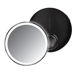 Compact sensor mirror, D10.3cm, black steel