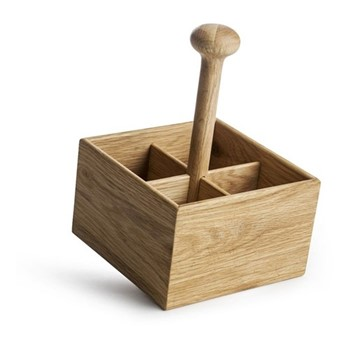 Nature Serving & storing rack, Dia22 x H15cm, oak