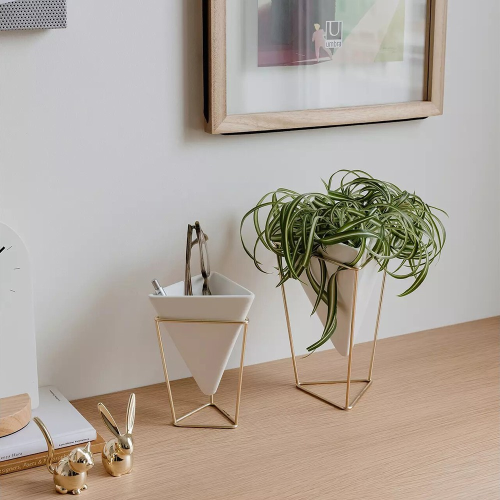 Trigg Desk set, White/Brass