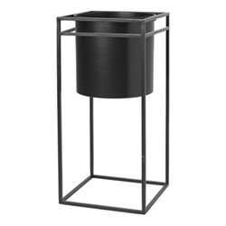 Pure Flower stand, H60 x W28 x L28cm, black