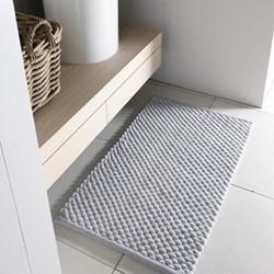 Maks Bath mat, 60 x 100cm, silver