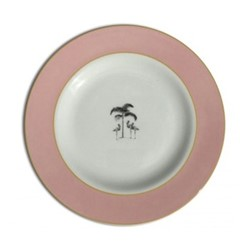 Harlequin - Pink Flamingo Tea plate, D16.5cm, pink
