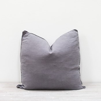 Lisbon Cushion, 50 x 50cm, pewter grey