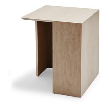 Building High table, L40 x W40 x H49cm, oak