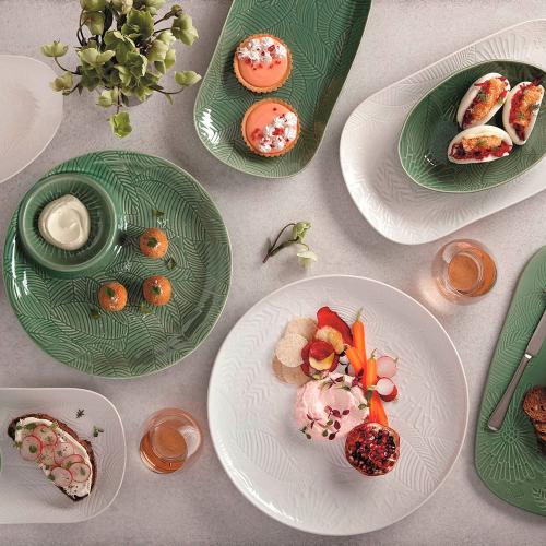 Panama Panama Stoneware Chip and Dip Serving Bowl Kiwi Gift Boxed, Green