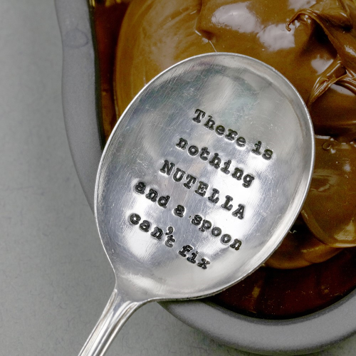 There Is Nothing Nutella Spoon, 13cm, Silver Plated