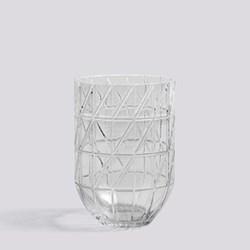 Colour Large glass vase, H19 x W13.5cm, clear