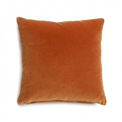 Monroe Square cushion, W50 x L50cm, burnt orange