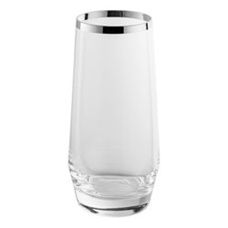 Avantgarde Water tumbler, H14.5cm, crystal and sterling silver