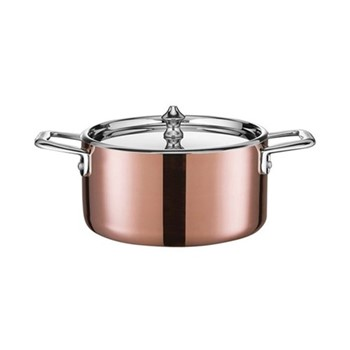 Maitre D' Covered mini dutch oven, 1.5 litre - D16cm, copper and stainless steel