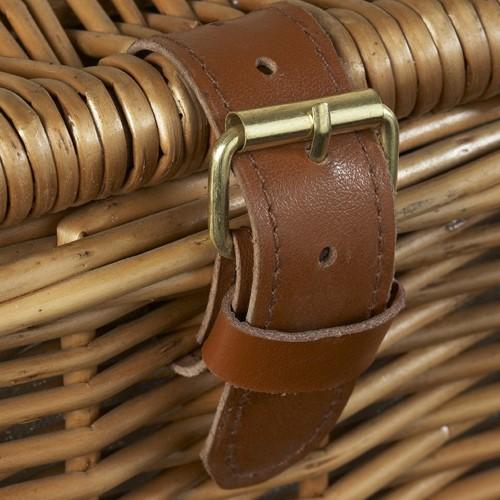 Deluxe Picnic hamper - 2 person, 38 x 38 x 21cm, willow wicker