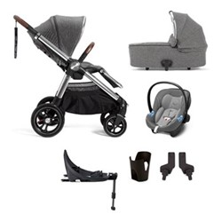 Ocarro 6 piece pushchair and car seat set, grey twill
