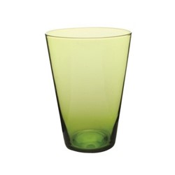 Eau Minerale Set of 4 water glasses, 7.6 x 11.4cm, green rim