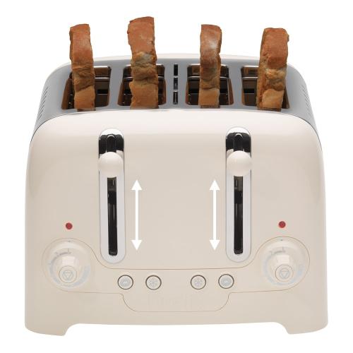 Lite 4 slot toaster, Canvas White